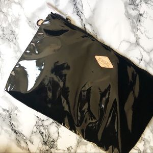 MZ Wallace | Solid Black Lacquer Zip Pouch